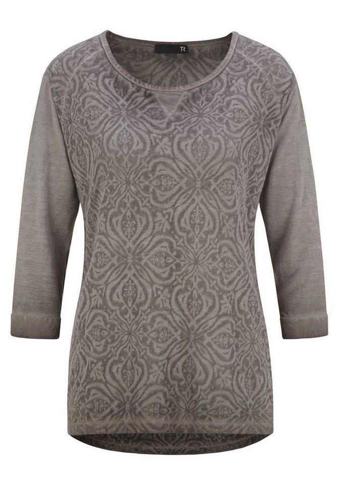Thomas Rabe Shirt mit Muster und Ornamenten in NOUGAT