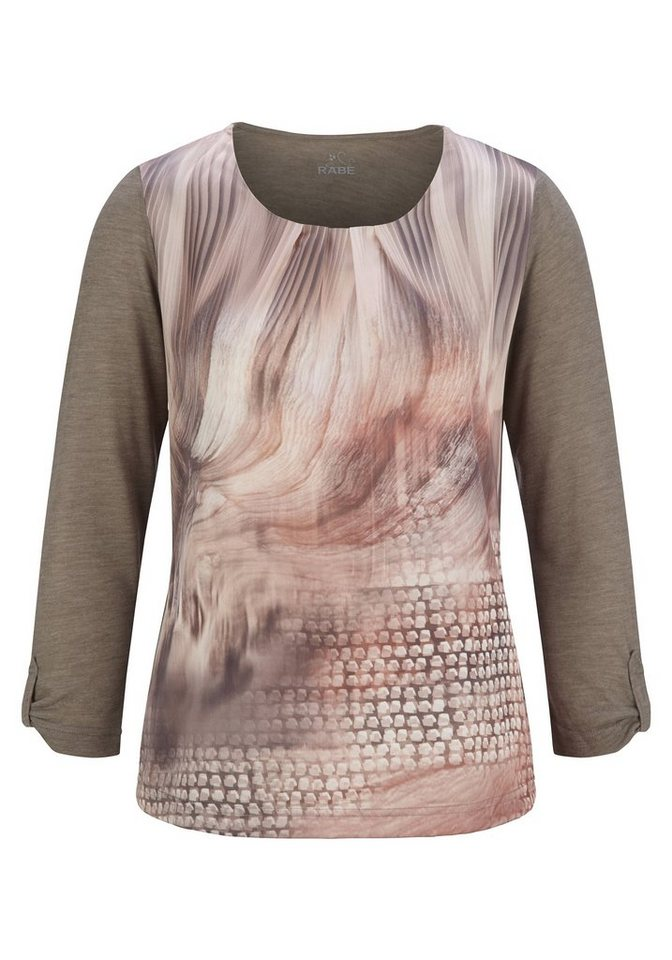 Rabe Shirt mit Print in UMBRA