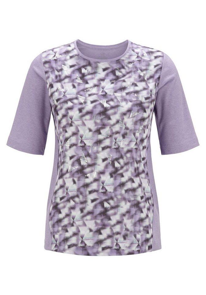 Rabe Shirt mit Print und Rundhalsausschnitt in VIOLA