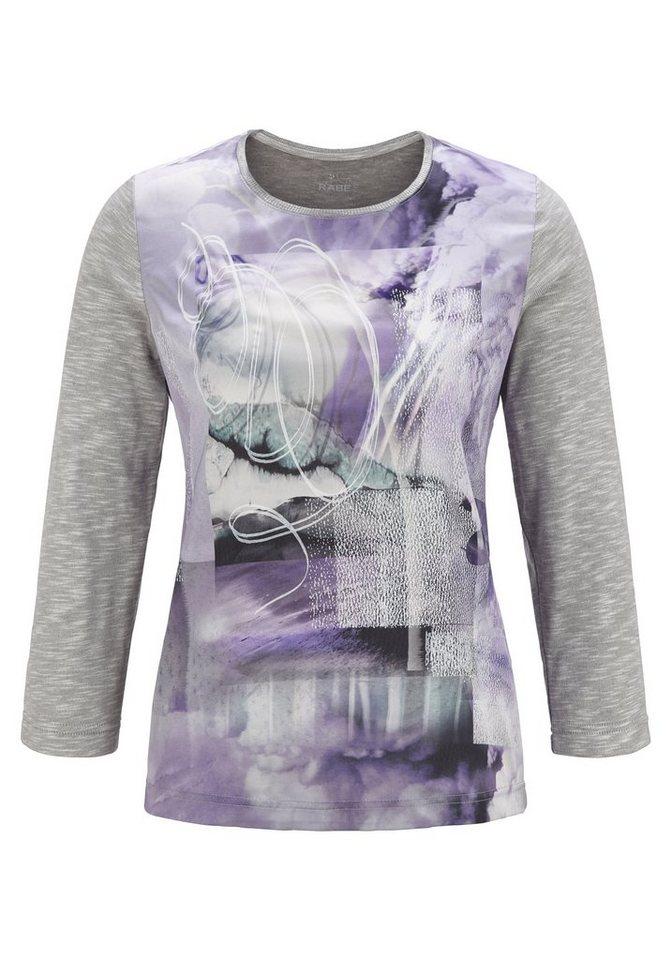 Rabe Shirt mit Mustermix und Rundhalsausschnitt in ANTHRAZIT
