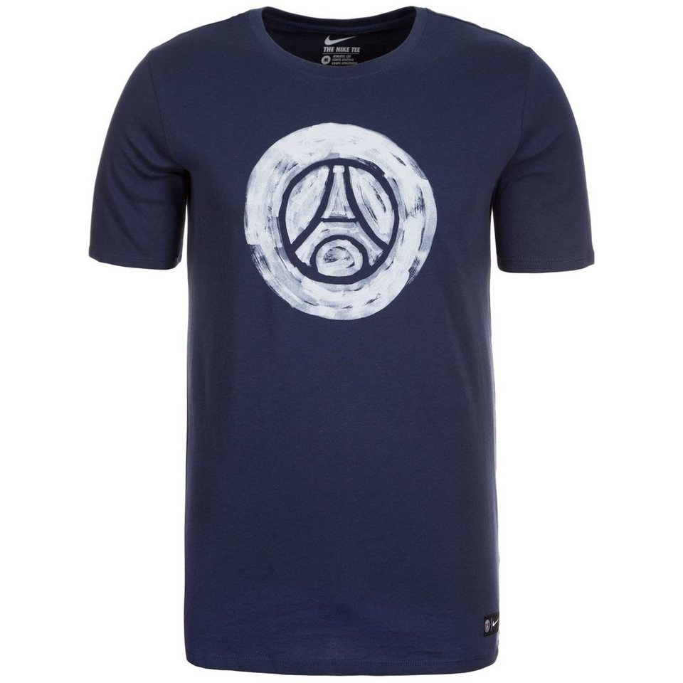 NIKE Paris Saint-Germain Crest T-Shirt Herren in dunkelblau