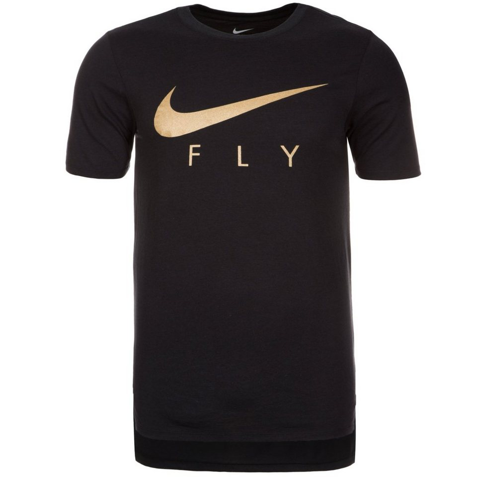 NIKE Fly Droptail T-Shirt Herren in schwarz / gold