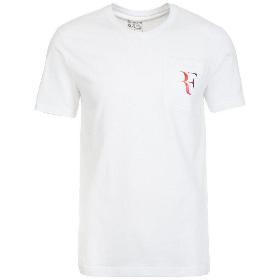 NIKE RF Stealth Tennisshirt Herren in weiß