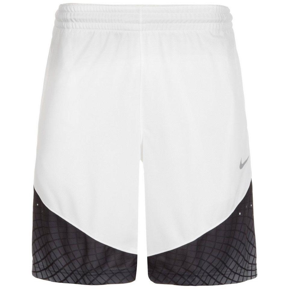 NIKE Elite Matrix Basketballshort Herren in weiß / schwarz