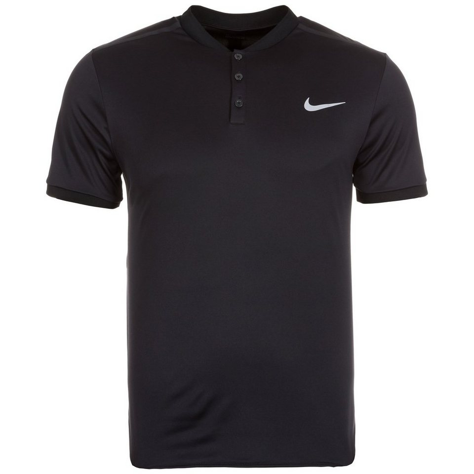 NIKE Court Advantage Premier Tennispolo Herren in schwarz