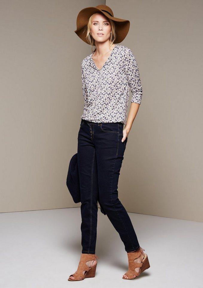 COMMA Klassische Jeans in schöner Waschung in blue denim stretch
