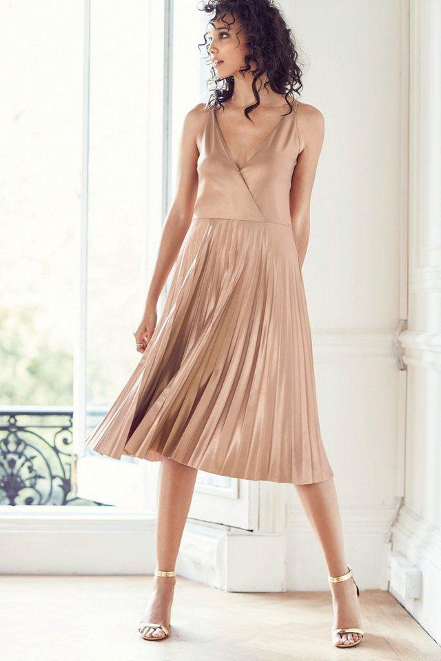 Next Plissiertes Kleid in Pink