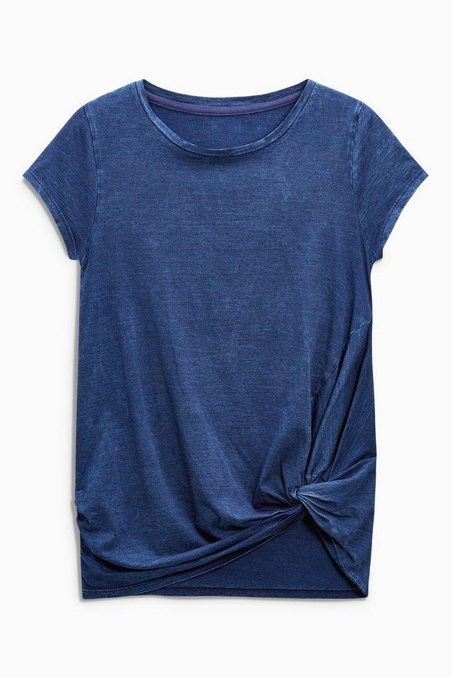 Next T-Shirt mit Twist-Detail in Indigoblau