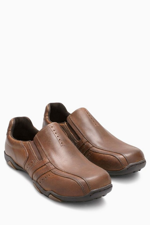 Next Slipper aus Leder in Brown