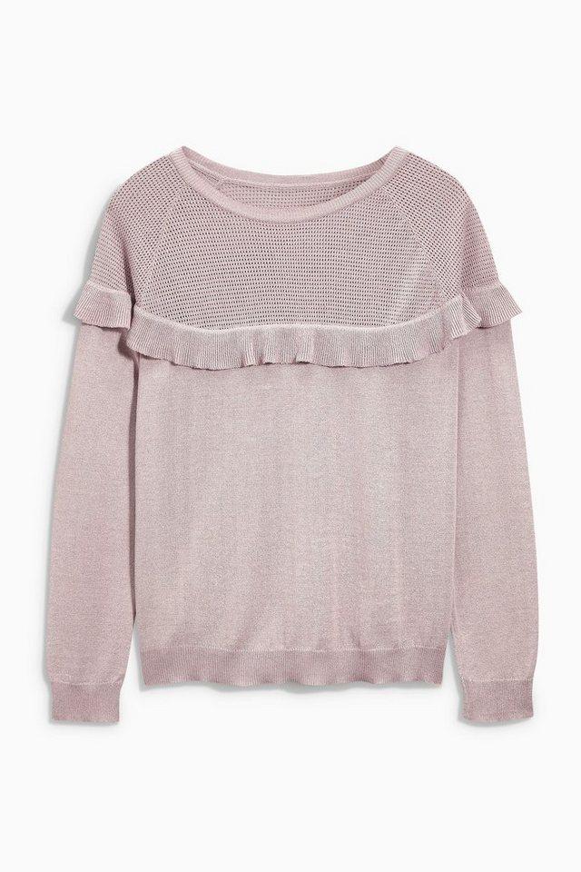 Next Pullover mit Rüschendetails in Rosé