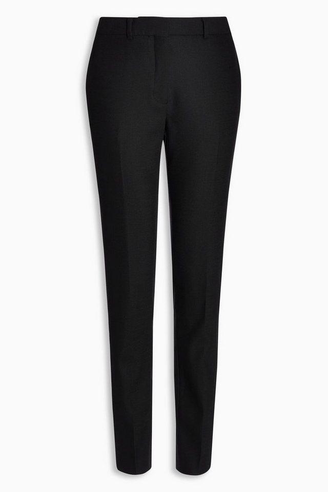 Next Strukturierte Slim-Fit Hose in Schwarz