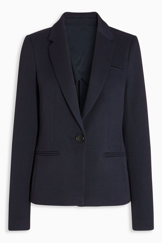 Next Einreihiger Blazer aus Twill in Blau