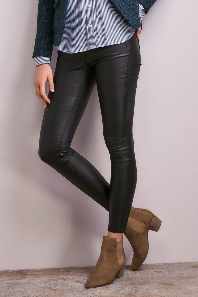 Next Beschichtete Leggings in Black
