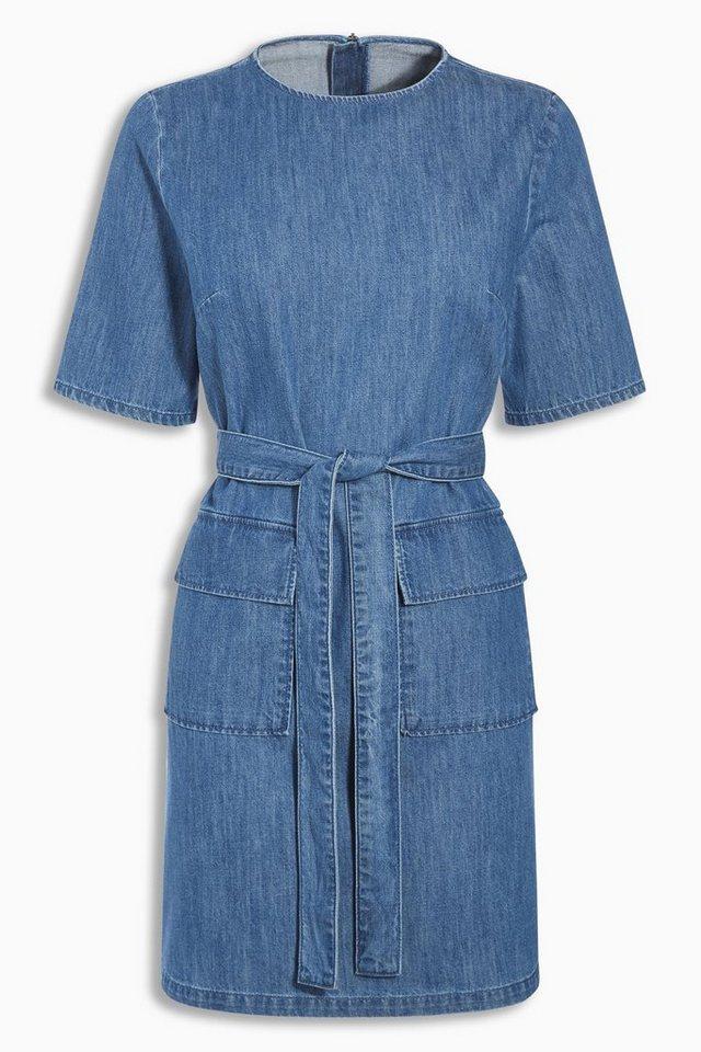 Next Kleid aus Denim in Blau