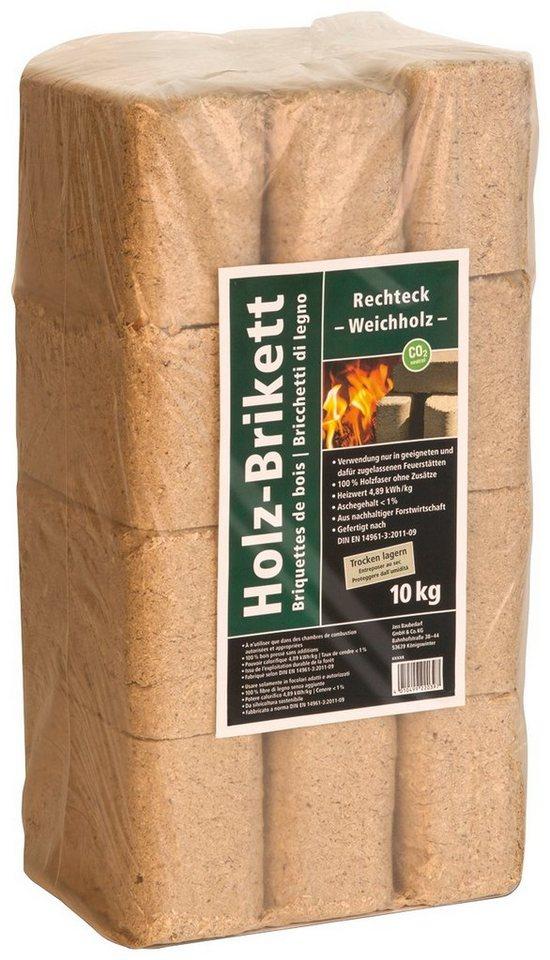 Holzbriketts »eckig« in braun