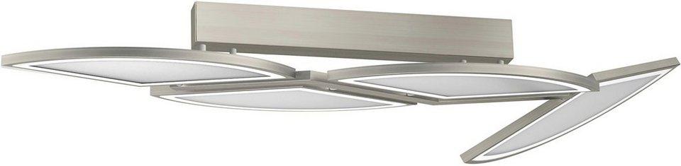 EVOTEC LED-Deckenleuchte, 4flg., »MOVIL« in nickelfb. gebürstet
