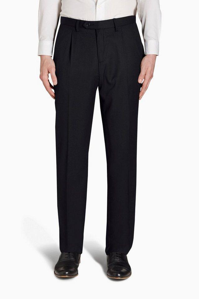 Next Hose mit Bundfalte aus Wollgemisch in Schwarz