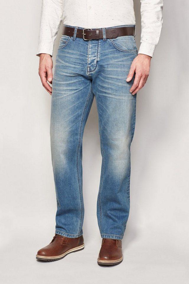 Next Straight-Fit Light Blue Stretch-Jeans mit Gürtel in Blau Straight-Fit
