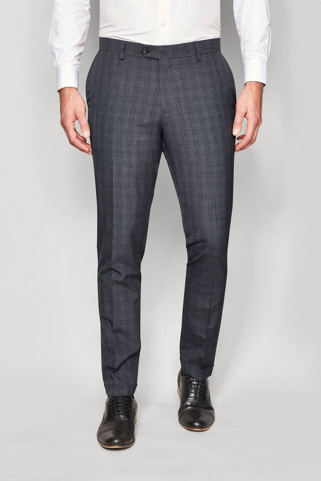Next Modische Hose in Charcoal Check Slim Fit
