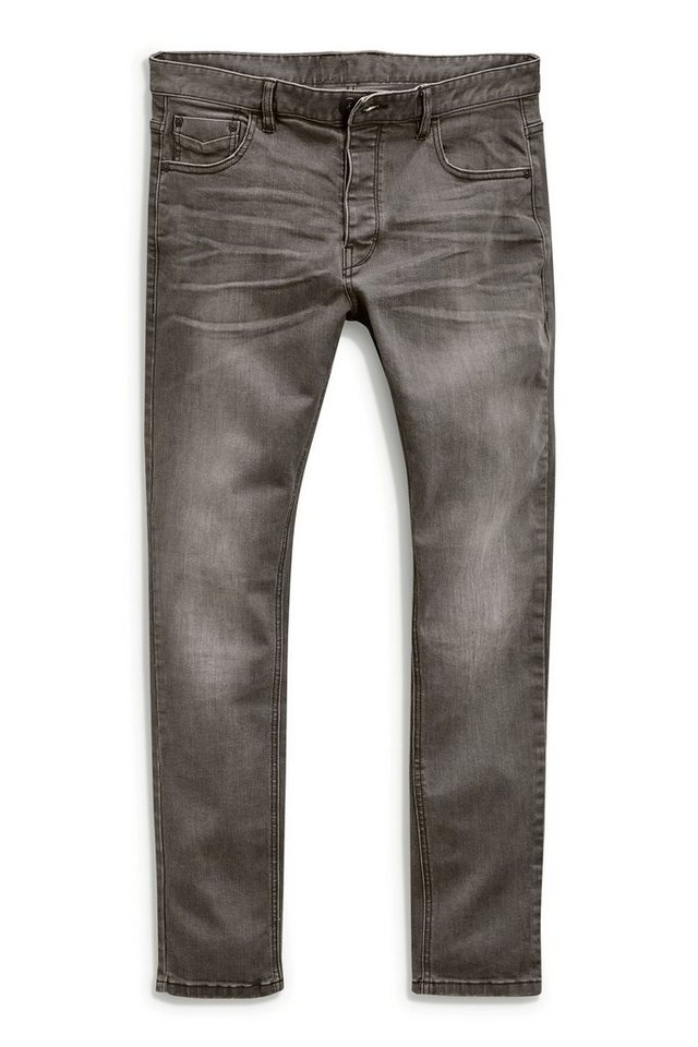 Next Straight-Fit Mid Grey Stretch-Jeans in Grau Straight-Fit