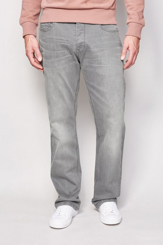 Next Loose-Fit Mid Grey Stretch-Jeans in Grau Loose-Fit