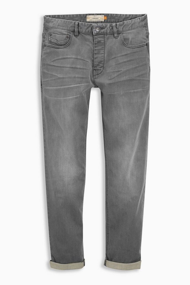 Next Tapered-Fit Mid Grey Stretch-Jeans in Grau Tapered-Fit