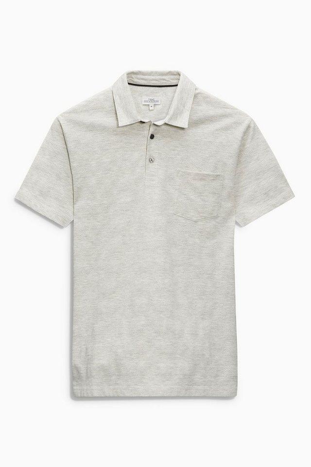 Next Poloshirt mit Strukturstreifen in Grau