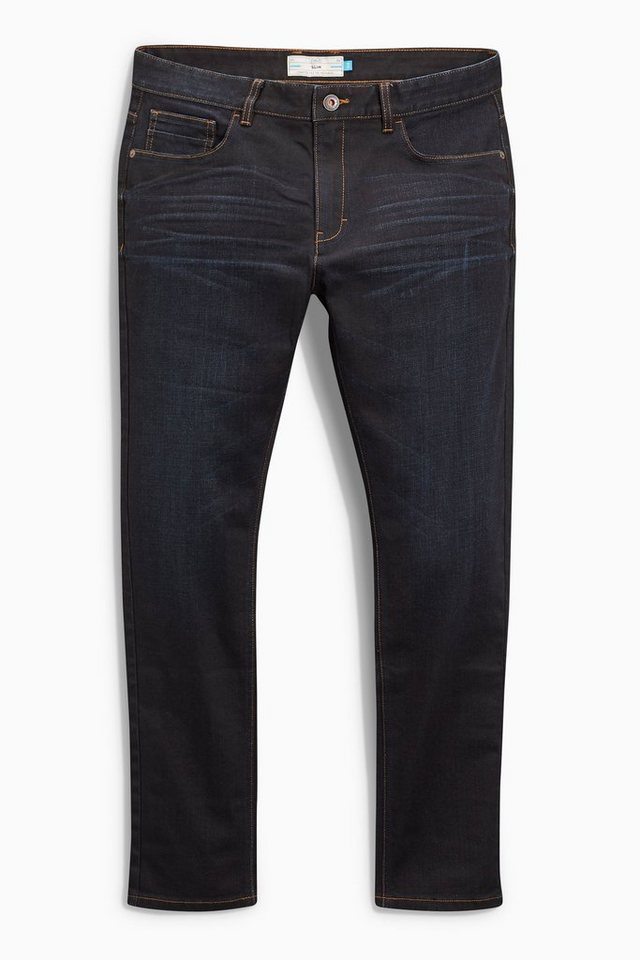 Next Slim-Fit Dark Wash Stretch-Jeans in Blau Slim-Fit