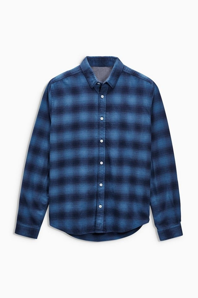 Next Kariertes Hemd in Blau