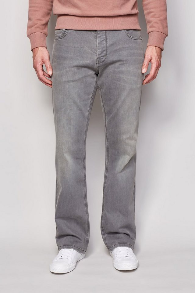 Next Boot-Fit Mid Grey Stretch-Jeans in Blau Boot-Fit