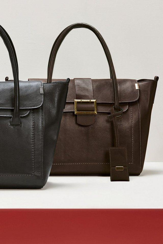 Next Handtasche aus Leder in Schokoladenbraun