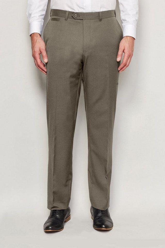 Next Hose mit normaler Passform, ohne Bundfalte in Naturfarben
