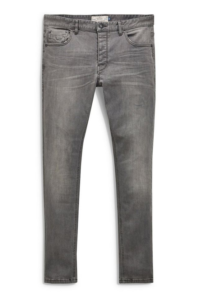Next Slim-Fit Mid Grey Stretch-Jeans in Grau Slim-Fit