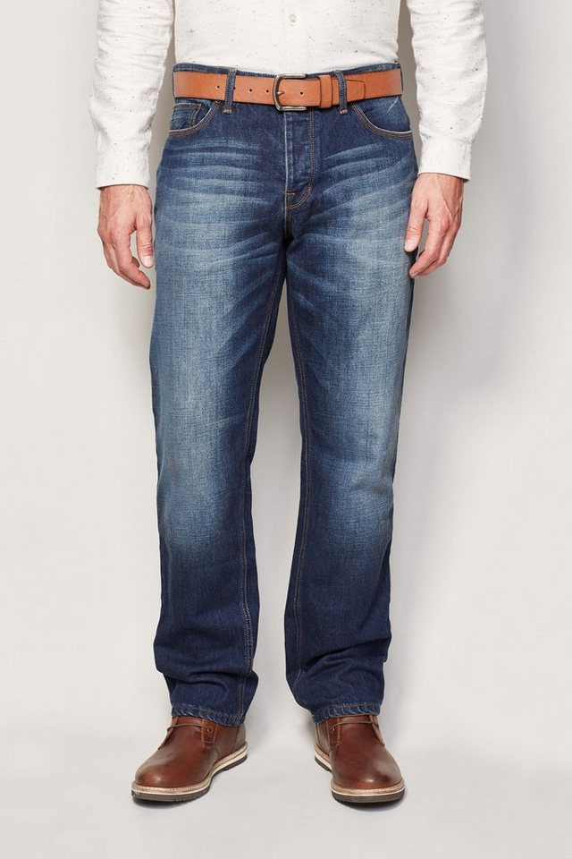 Next Straight-Fit Vintage Blue Jeans mit Gürtel 2 teilig in Blau Straight-Fit