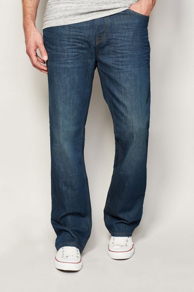 Next Boot-Fit Teal Wash Stretch-Jeans in Blau Boot-Fit