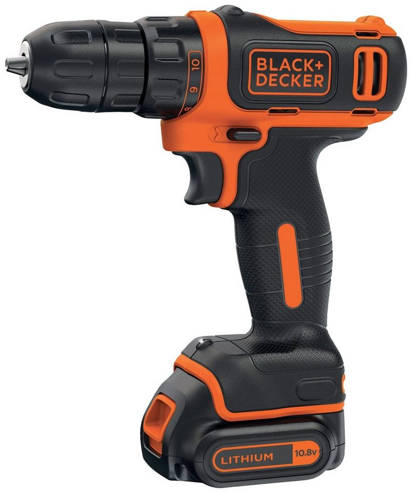 Akkubohrschrauber »BDCDD12«, wahlweise mit 1 oder 2 Akkus in orange