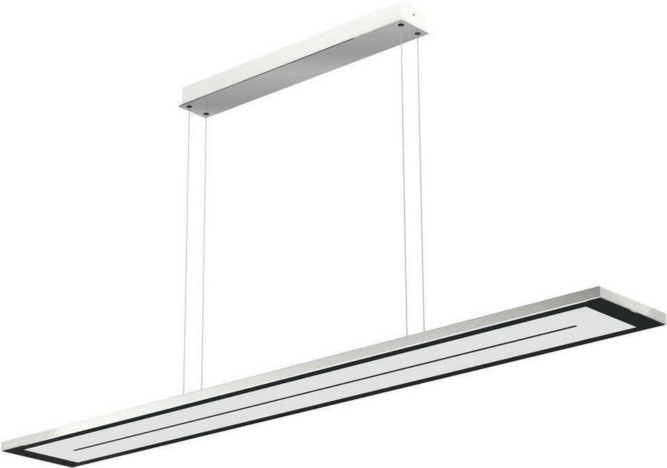 EVOTEC LED-Pendelleuchte, 1flg., »ZEN« in alu , nickelfb. gebürstet, Innenrahmen schwarz