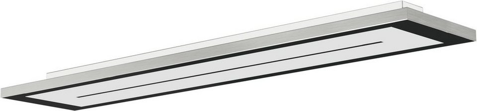 EVOTEC LED-Deckenleuchte, 1flg., »ZEN« in alu , nickelfb. gebürstet, Innenrahmen schwarz
