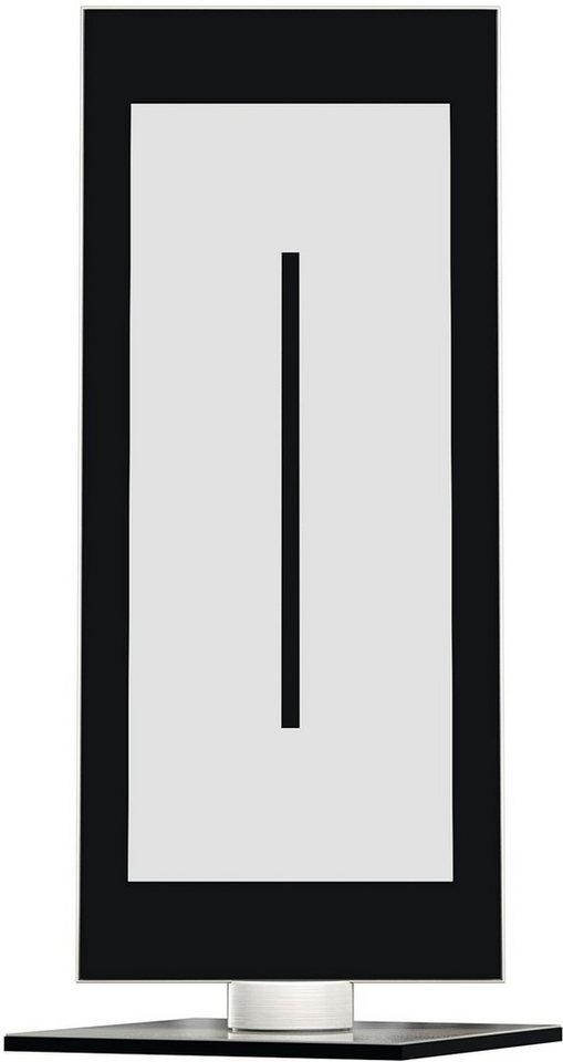 EVOTEC LED-Tischleuchte, 1flg., »ZEN« in alu , nickelfb. gebürstet, Innenrahmen schwarz