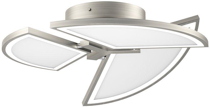 EVOTEC LED-Deckenleuchte, 3flg., »MOVIL« in nickelfb. gebürstet