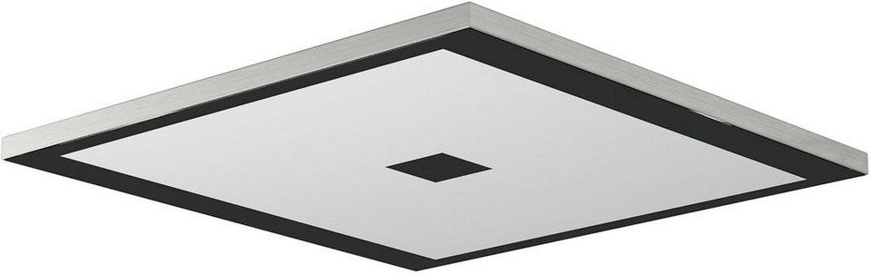 EVOTEC LED-Deckenleuchte, 1flg.,, »ZEN« in alu , nickelfb. gebürstet, Innenrahmen schwarz