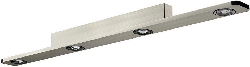 EVOTEC Deckenleuchte, 4flg., »LIGHT WAVE« in aluminium, nickel gebürstet