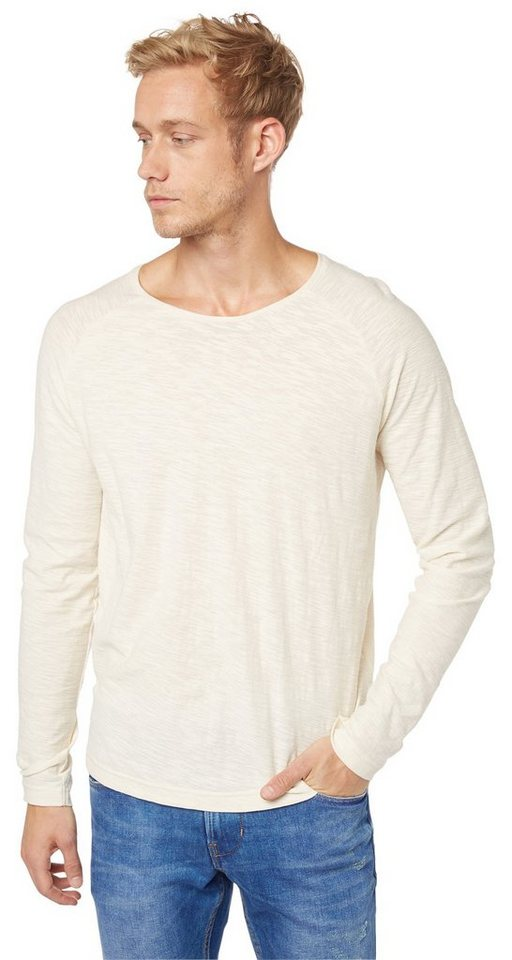 TOM TAILOR DENIM T-Shirt »lässiges Raglan-Shirt« in soft beige solid