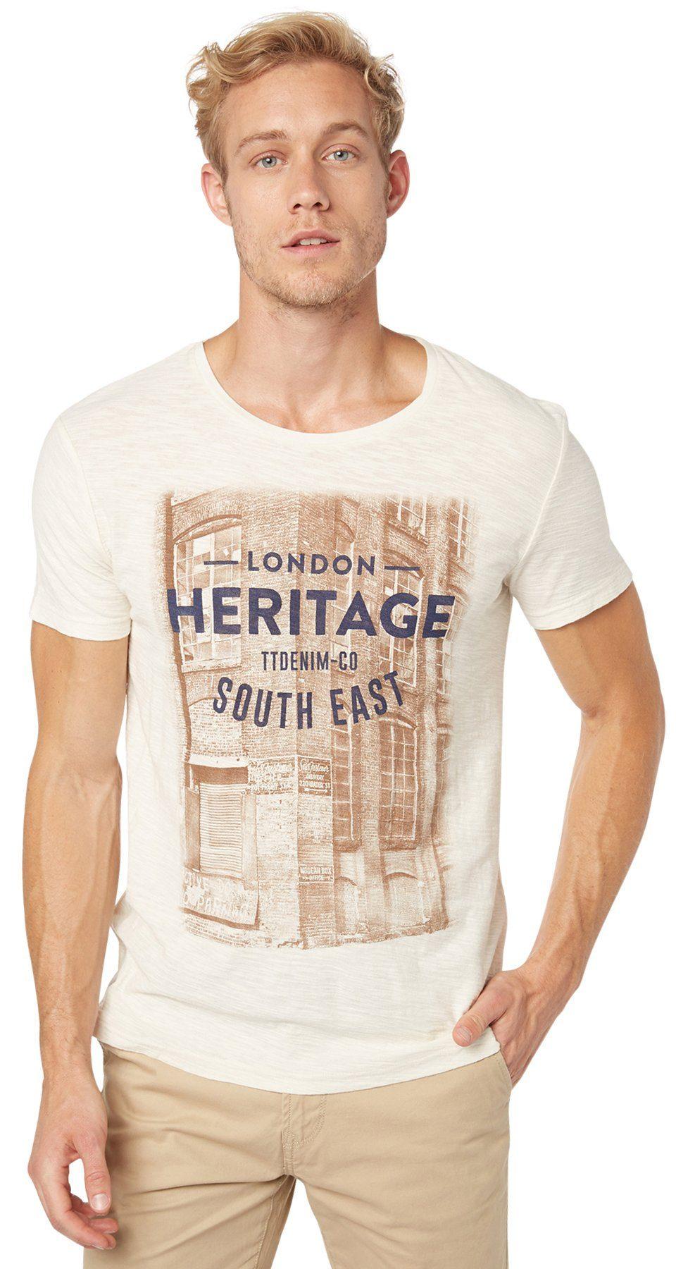 TOM TAILOR DENIM T-Shirt »Print-Shirt im Vintage-Look«