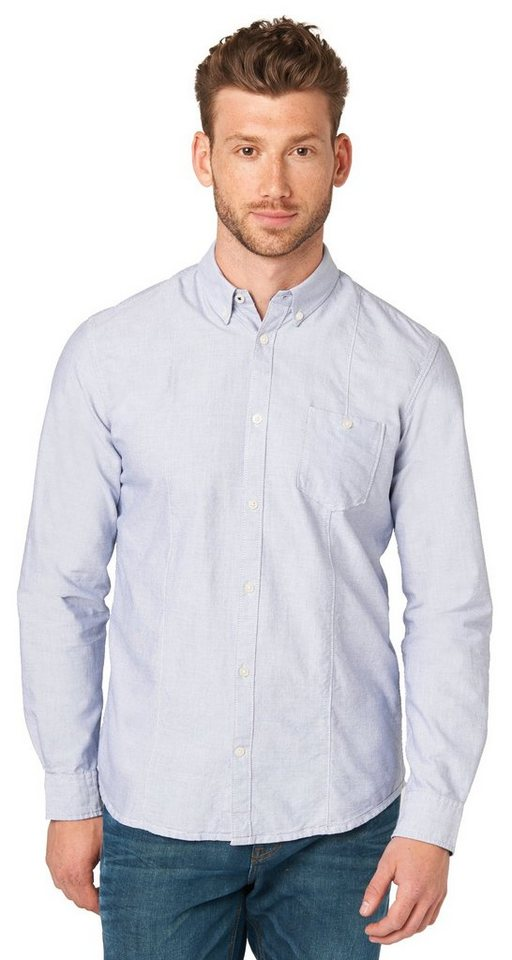 TOM TAILOR Hemd »Ray two colour structure shirt« in blue dephts
