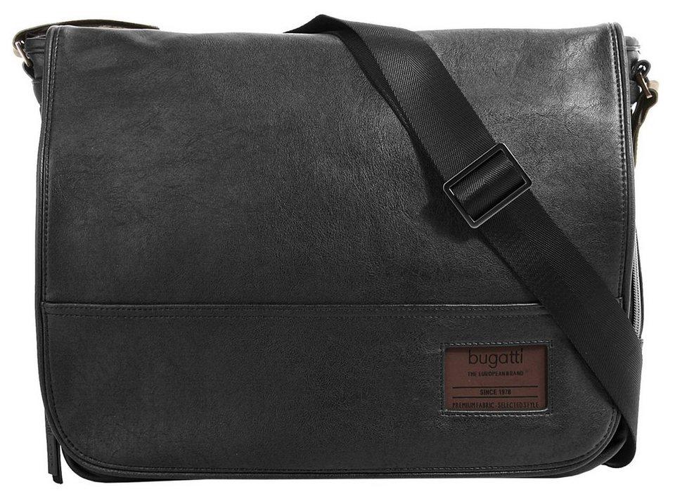 Bugatti Messengerbag »Moto D« in schwarz