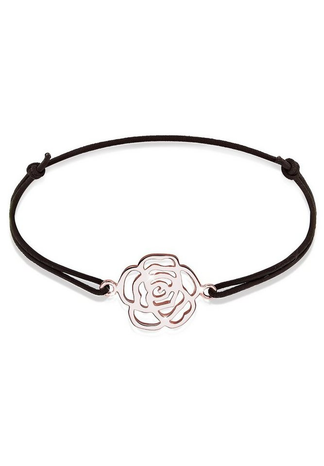 Elli Armband »Rose ROSÉGOLD« in Schwarz