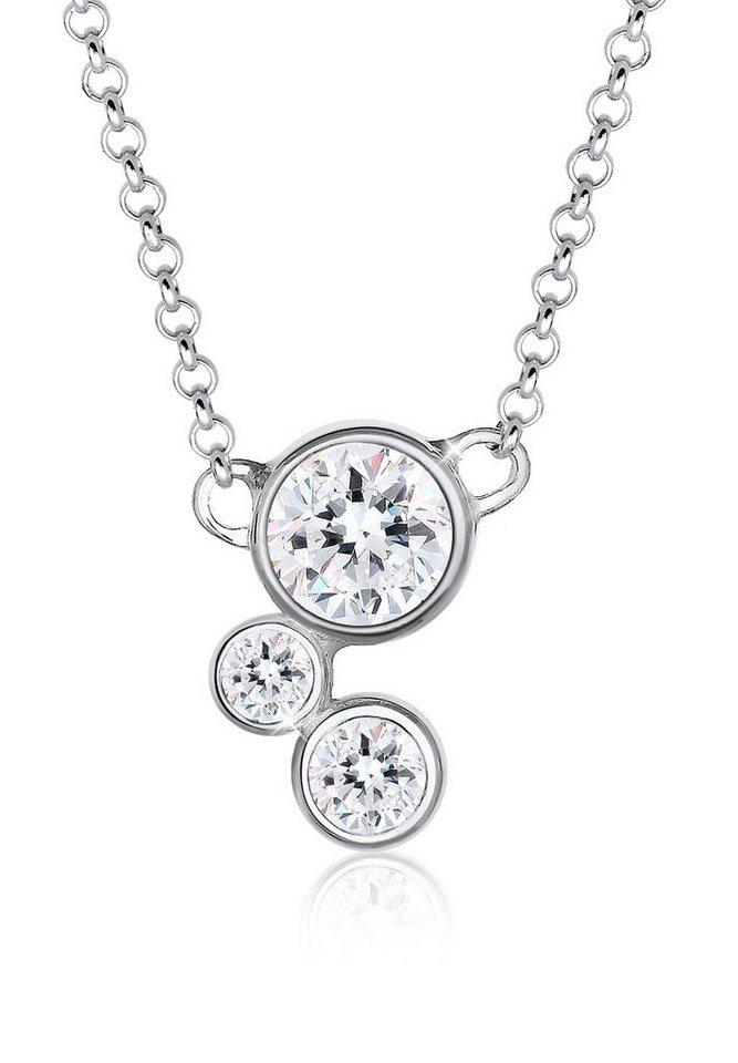 Elli Halskette »Geschenkt Tipp Swarovski® Kristalle 925 Silber« in Weiß