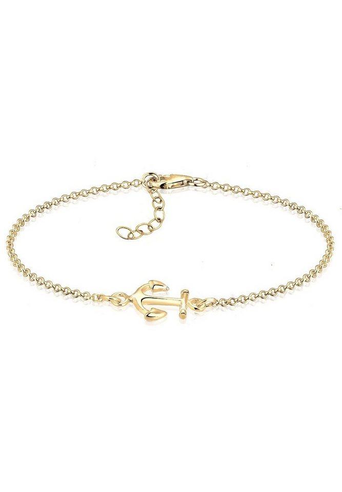Elli Armband »Anker vergoldet« in Gold