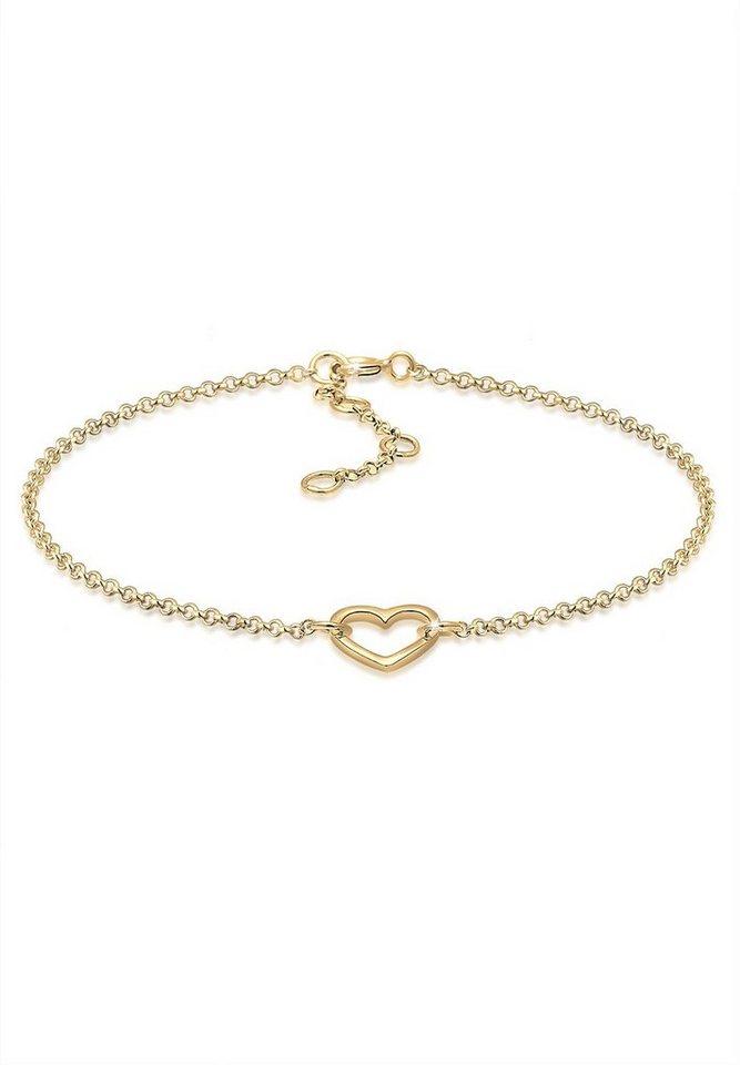 Elli Armband »Herz vergoldet« in Gold